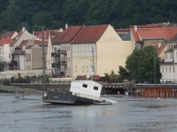 Hochwasser am Elbufer in Pirna