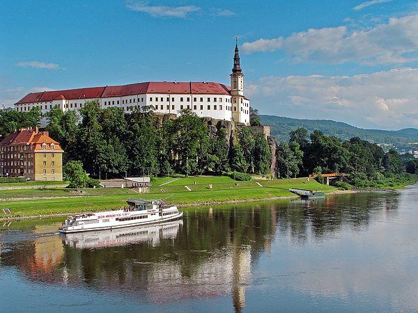 Pirnas Partnerstadt Decin in Tschechien